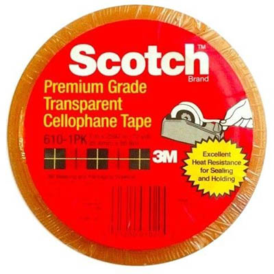 Image for SCOTCH 610 TRANSPARENT TAPE 12MM X 33M PACK 12 from Mackay Business Machines (MBM)