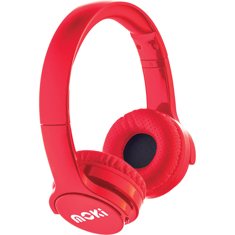 Image for MOKI BRITES BLUETOOTH HEADPHONES RED from OFFICE NATIONAL CANNING VALE, JOONDALUP & OFFICE TOOLS OPD