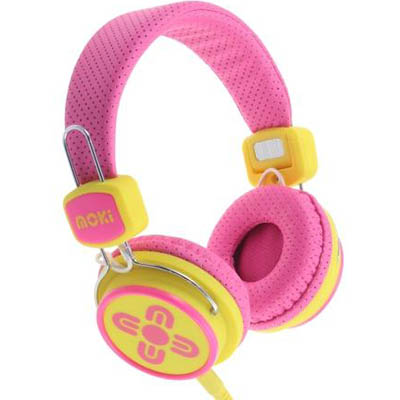 Image for MOKI KID SAFE VOLUME LIMITED HEADPHONES PINK/YELLOW from Office National Hobart