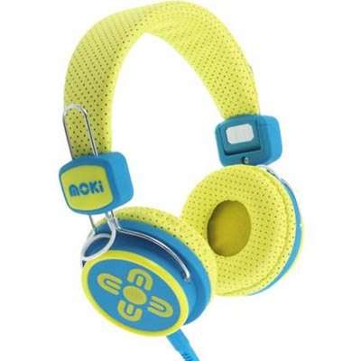 Image for MOKI KID SAFE VOLUME LIMITED HEADPHONES YELLOW/BLUE from Office National Hobart