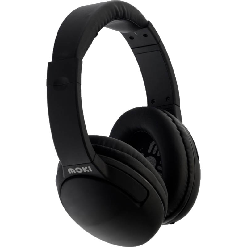 Image for MOKI NERO HEADPHONES WITH MICROPHONE BLACK from Office National Hobart