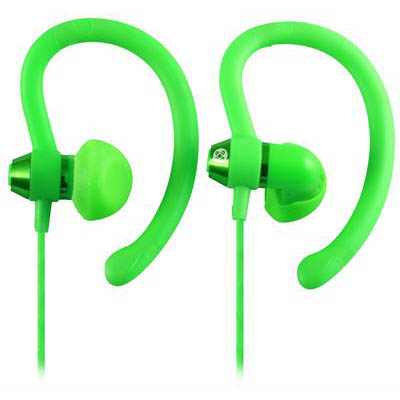 Image for MOKI SPORTS EARPHONES 90 DEGREE GREEN from OFFICE NATIONAL CANNING VALE, JOONDALUP & OFFICE TOOLS OPD