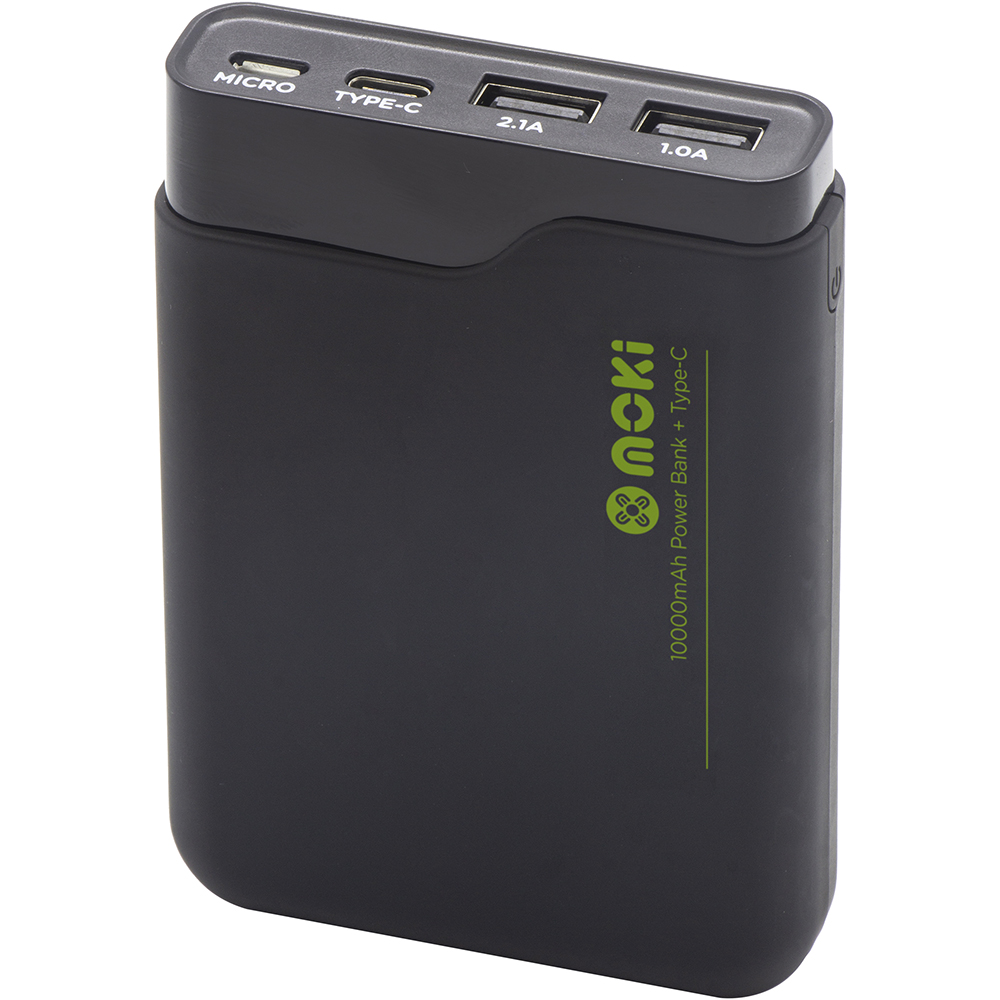Image for MOKI POWERBANK 10000MAH TYPE-C + USB BLACK from Emerald Office Supplies