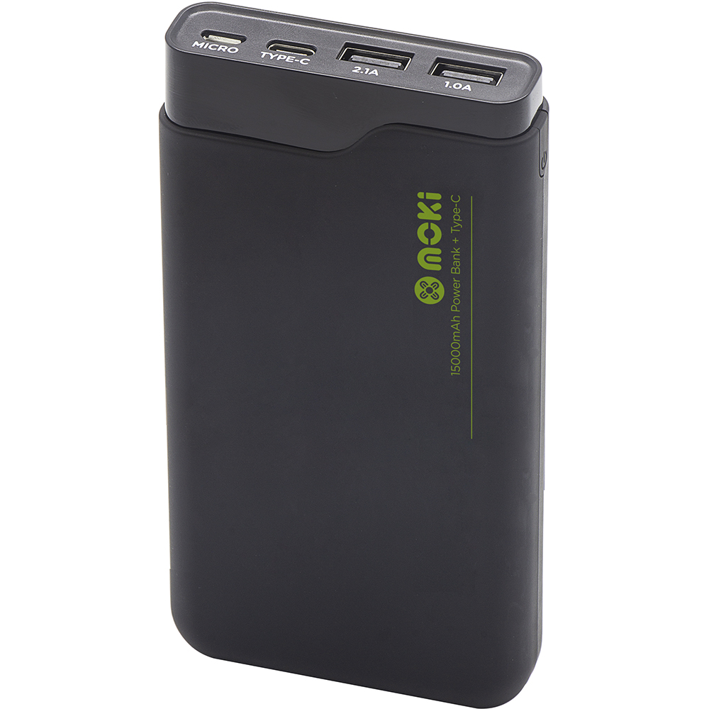 Image for MOKI POWERBANK 15000MAH TYPE-C + USB BLACK from PaperChase Office National