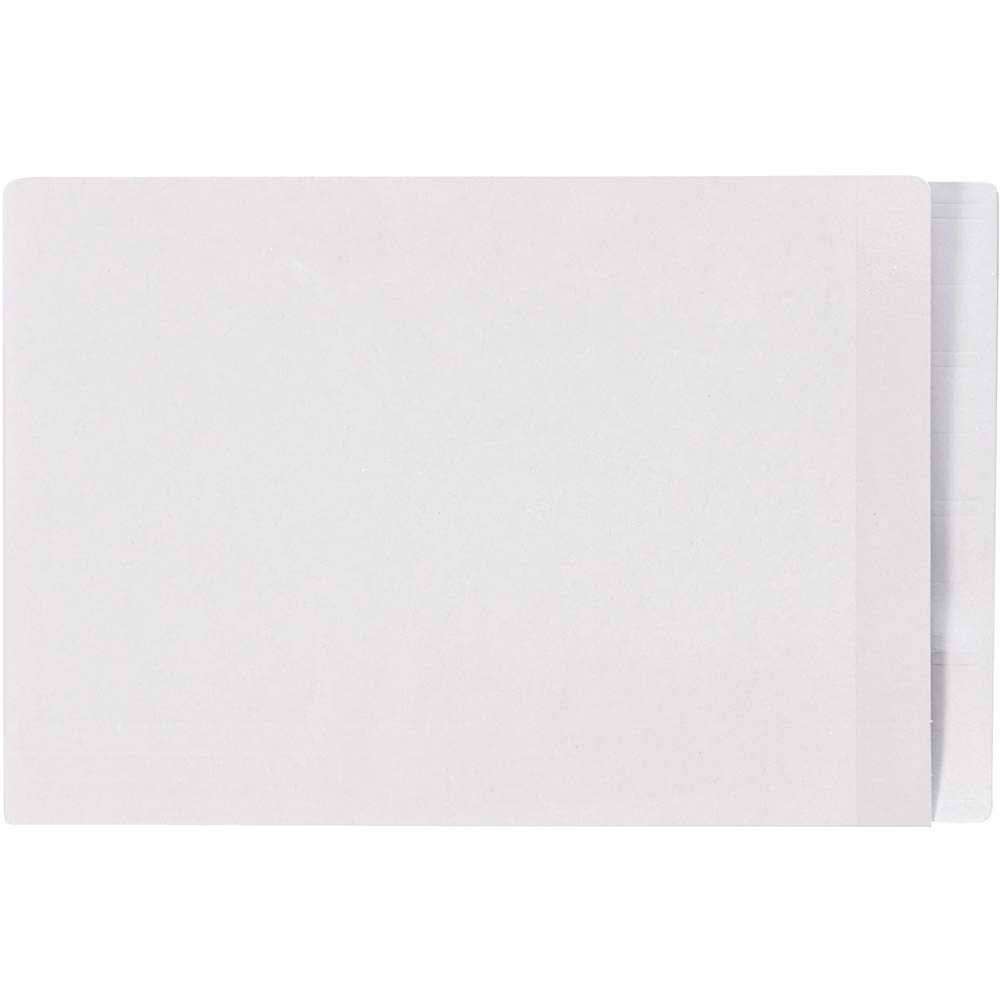 Image for AVERY 42421 LATERAL FILE WITH CLEAR TAB MYLAR FOOLSCAP WHITE BOX 100 from Office National Capalaba