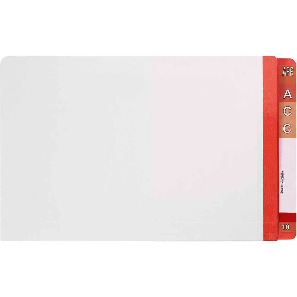 Image for AVERY 42431 LATERAL FILE WITH RED TAB MYLAR FOOLSCAP WHITE BOX 100 from Office National Capalaba