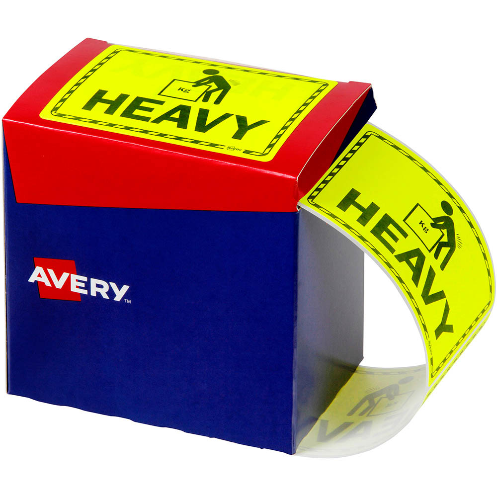 Image for AVERY 932604 MESSAGE LABEL HEAVY 75 X 99.6MM FLUORO YELLOW PACK 750 from Office National Capalaba
