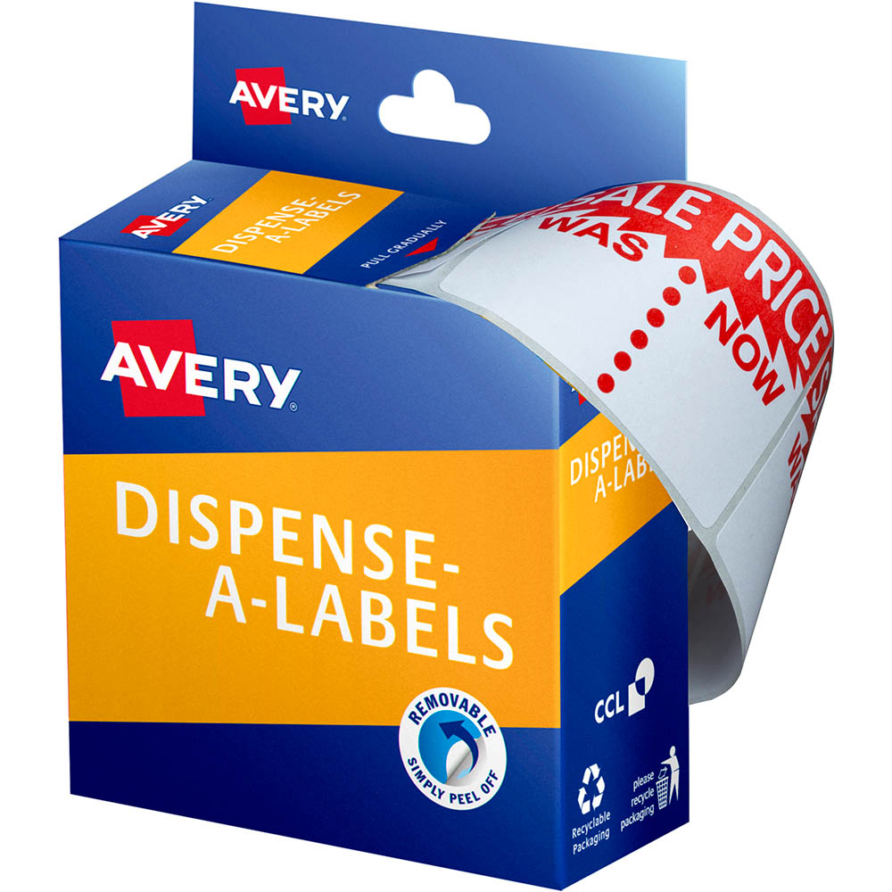 Image for AVERY 937309 MESSAGE LABELS SALE WAS/NOW 44 X 63MM PACK 400 from Axsel Office National