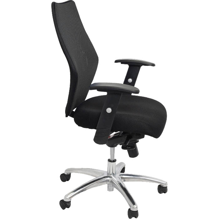 Image for INITIATIVE EXECUTIVE CHAIR MESH MEDIUM BACK ARMS BLACK from City Stationery Office National