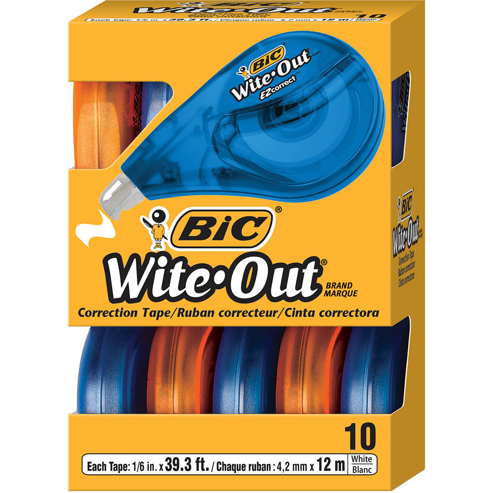 Image for BIC WITE-OUT EZ CORRECTION TAPE BOX 10 from Office National Barossa
