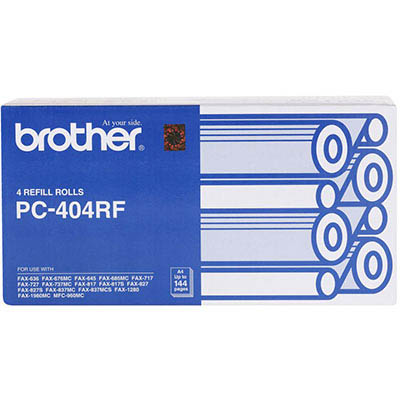 Image for BROTHER PC404RF FAX REFILL ROLL PACK 4 from OFFICE NATIONAL CANNING VALE, JOONDALUP & OFFICE TOOLS OPD