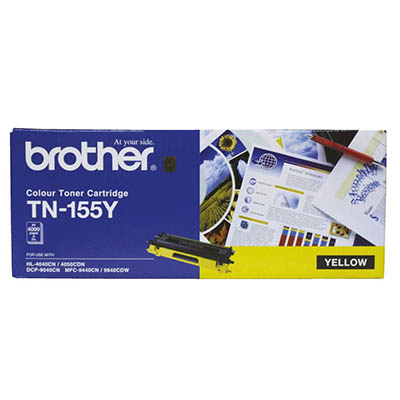Image for BROTHER TN155Y TONER CARTRIDGE YELLOW from Wetherill Park / Smithfield Office National