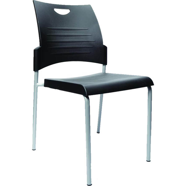 Image for BURO PRONTO VISITOR CHAIR 4-LEG BASE BLACK from Wetherill Park / Smithfield Office National