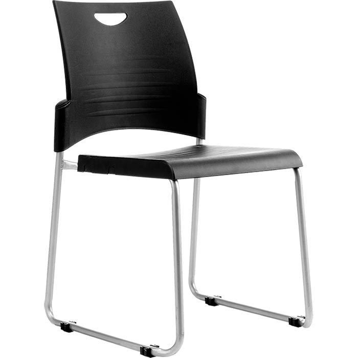 Image for BURO PRONTO VISITOR CHAIR SLED BASE BLACK from Wetherill Park / Smithfield Office National