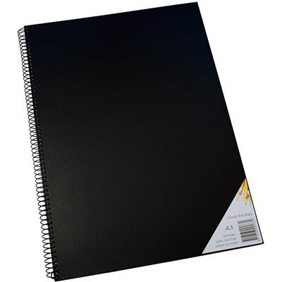 Image for QUILL VISUAL ART DIARY 110GSM 200 PAGE A3 PP BLACK from Wetherill Park / Smithfield Office National
