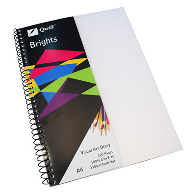 Image for QUILL VISUAL ART DIARY 110GSM 120 PAGE A4 PP FROST from SBA Office National