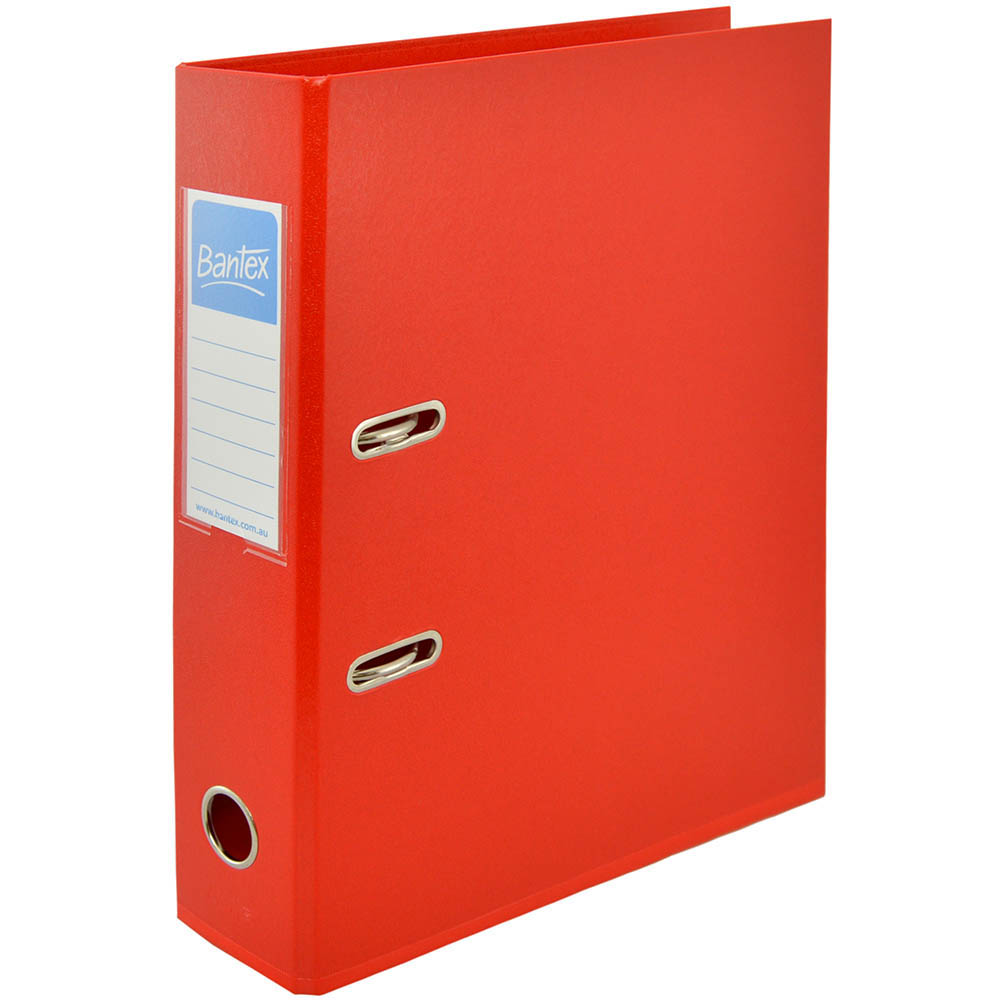Image for BANTEX LEVER ARCH FILE 70MM A4 RED from Mackay Business Machines (MBM)