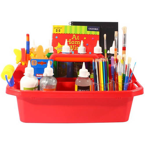 Image for BRENEX PLASTIC TOTE TRAY LARGE 500MM RED from Axsel Office National