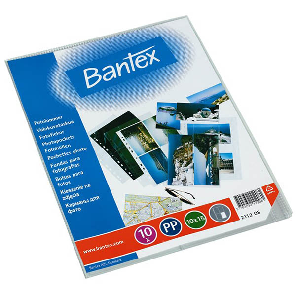 Image for BANTEX PHOTO POCKET PP 10 X 15 INCH CLEAR PACK 10 from Office National Capalaba