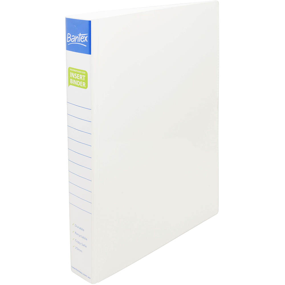 Image for BANTEX INSERT POLY BINDER 4D 25MM A4 WHITE from Axsel Office National