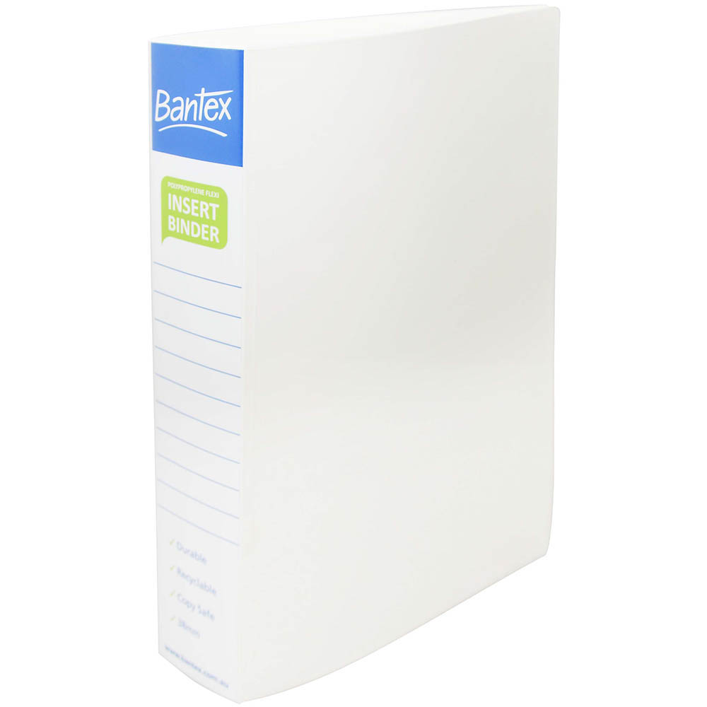 Image for BANTEX INSERT POLY BINDER 2D 38MM A4 WHITE from Axsel Office National