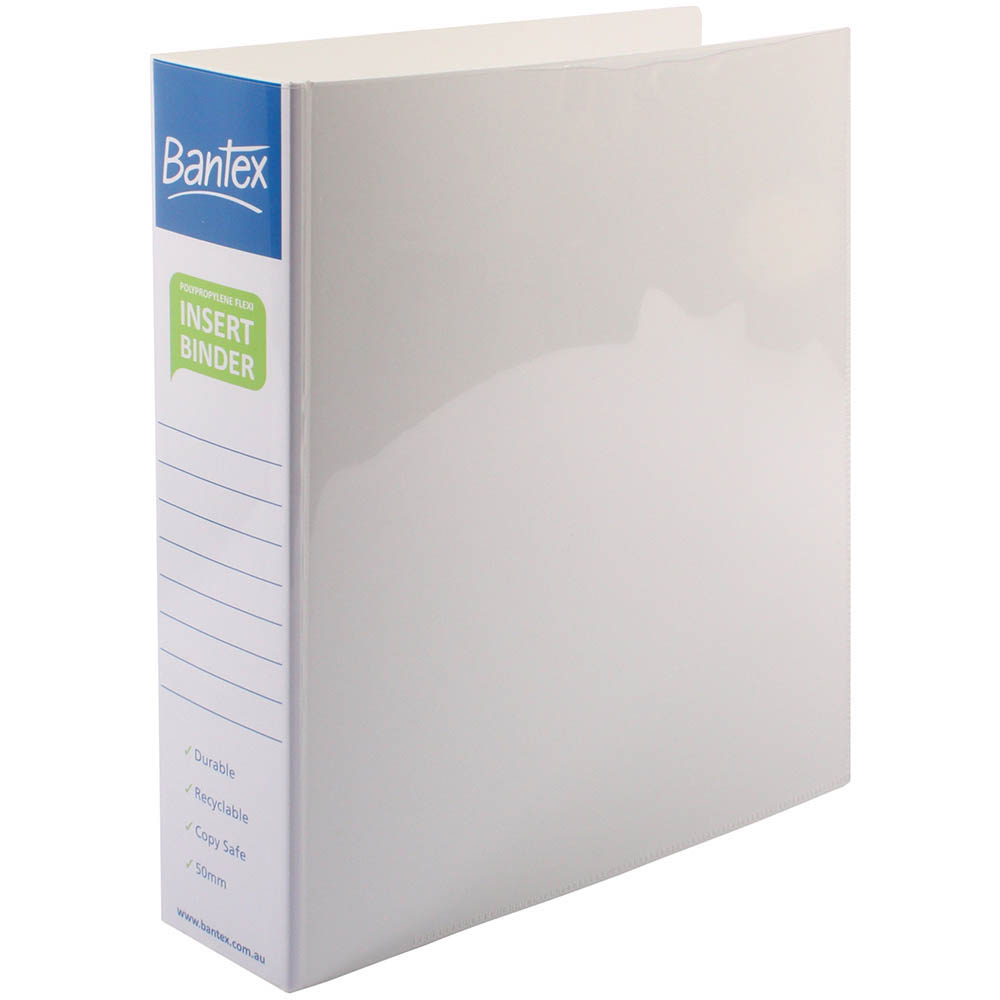 Image for BANTEX INSERT POLY BINDER 3D 50MM A4 WHITE from Axsel Office National