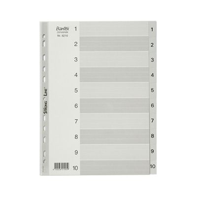Image for BANTEX PP INDEX DIVIDER 1-10 TAB A4 GREY from Axsel Office National