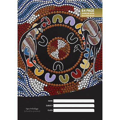 Image for CULTURAL CHOICE EXERCISE BOOK 8MM RULED 60GSM 64 PAGE A4 MOTIF from Office National Barossa