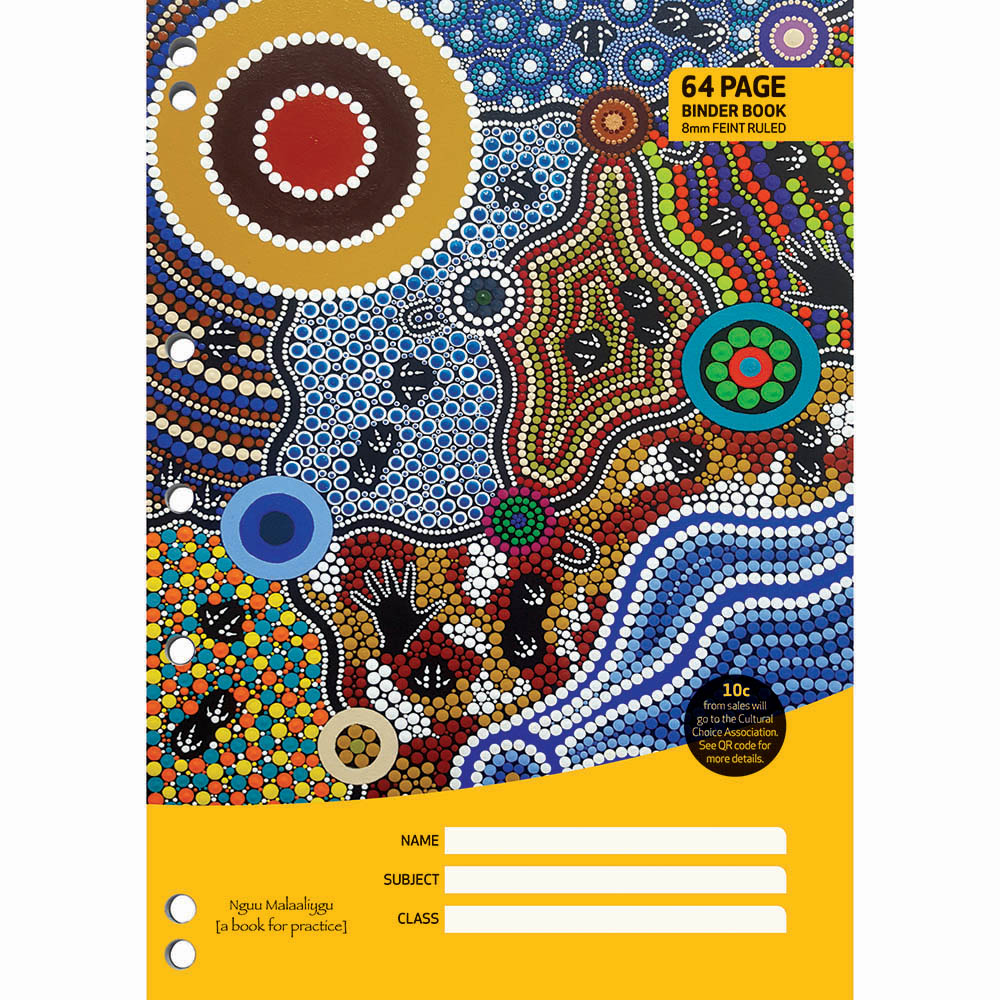 Image for CULTURAL CHOICE BINDER BOOK 8MM RULED 60GSM 64 PAGE A4 MOTIF from Office National Barossa