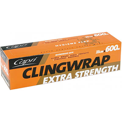 Image for CAPRI CLING WRAP 330MM X 600M from Office National Hobart
