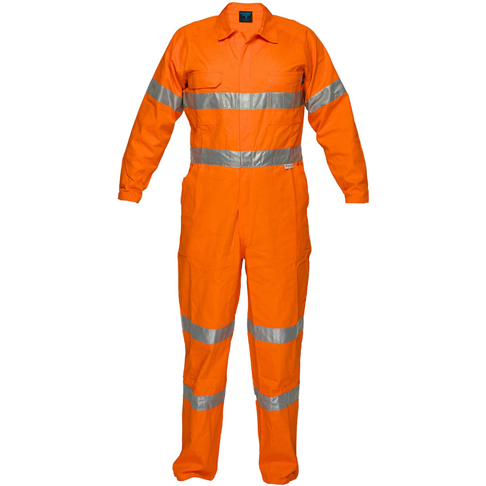 Image for PRIME MOVER MF922 PRIMETECH COTTON COVERALL FLAME RETARDANT WITH REFLECTIVE TAPE from Officebarn