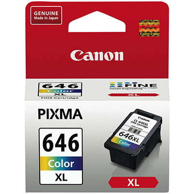 Image for CANON CL646XL INK CARTRIDGE HIGH YIELD COLOUR from Office National Hobart