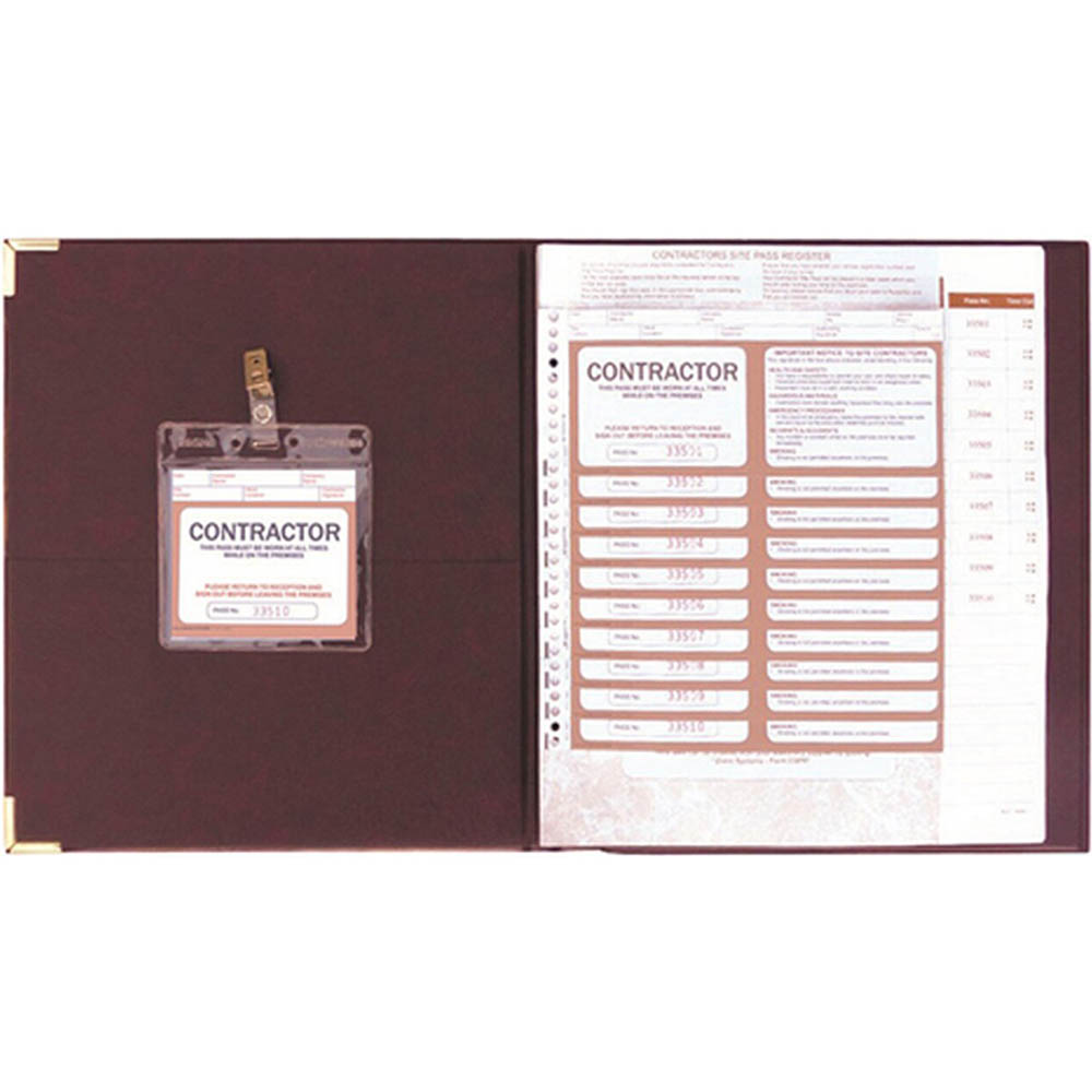 Image for ZIONS CSPR-K CONTRACTORS SITE PASS REGISTER KIT from Office National Kalgoorlie