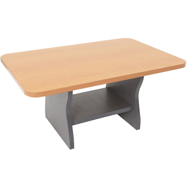 Image for RAPID WORKER COFFEE TABLE 900 X 600MM BEECH/IRONSTONE from City Stationery Office National