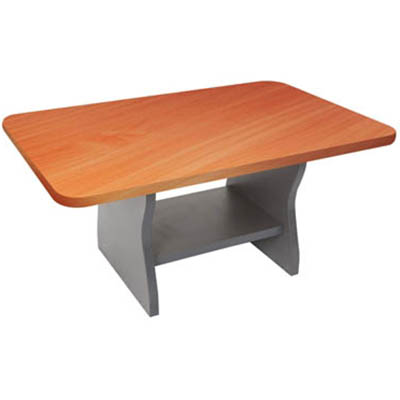Image for RAPID WORKER COFFEE TABLE 900 X 600MM CHERRY/IRONSTONE from City Stationery Office National
