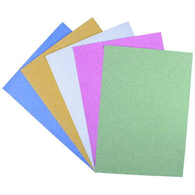 Image for COLOURFUL DAYS GLITTER PAPER A4 150GSM ASSORTED COLOURS PACK 50 from Paul John Office National