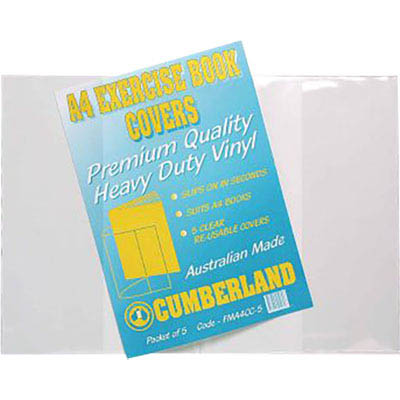 Image for CUMBERLAND BOOK COVERS A4 CLEAR PACK 25 from OFFICE NATIONAL CANNING VALE, JOONDALUP & OFFICE TOOLS OPD
