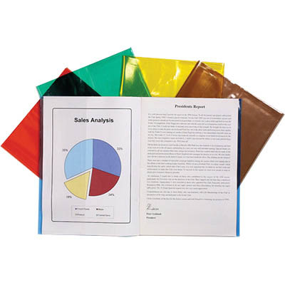 Image for CUMBERLAND BOOK COVERS A4 COLOURED PACK 25 from OFFICE NATIONAL CANNING VALE, JOONDALUP & OFFICE TOOLS OPD