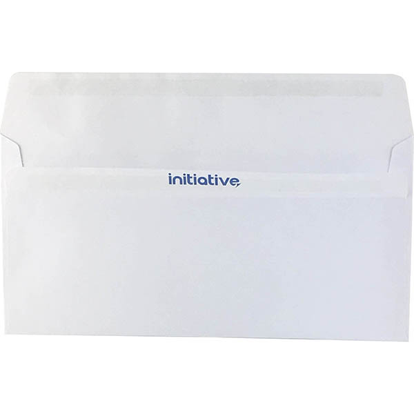 Image for INITIATIVE DL ENVELOPES WALLET PLAINFACE SELF SEAL 80GSM 110 X 220MM WHITE BOX 500 from Axsel Office National
