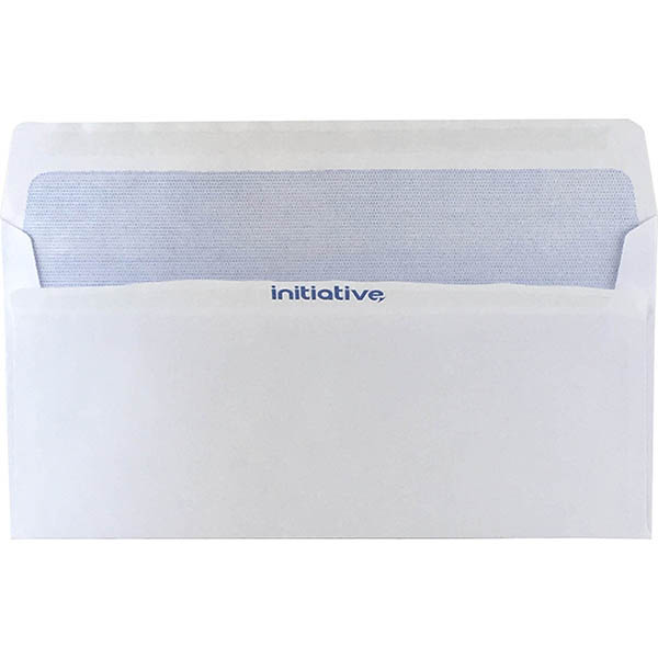 Image for INITIATIVE DL ENVELOPES SECRETIVE WALLET PLAINFACE SELF SEAL 80GSM 110 X 220MM WHITE BOX 500 from Axsel Office National