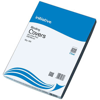 Image for INITIATIVE BINDING COVER 250 MICRON A4 CLEAR PACK 100 from OFFICE NATIONAL CANNING VALE, JOONDALUP & OFFICE TOOLS OPD