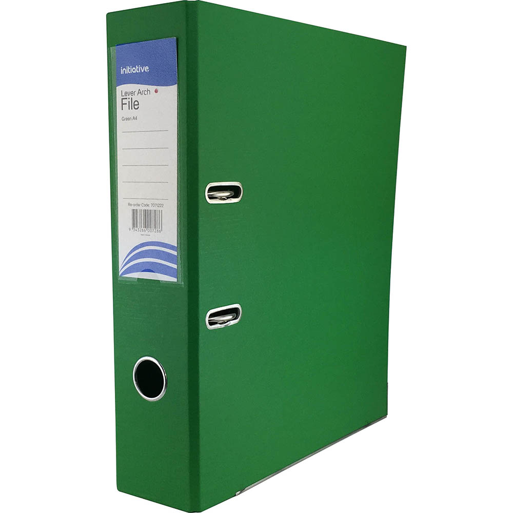 Image for INITIATIVE LEVER ARCH FILE PP 70MM A4 GREEN from Axsel Office National