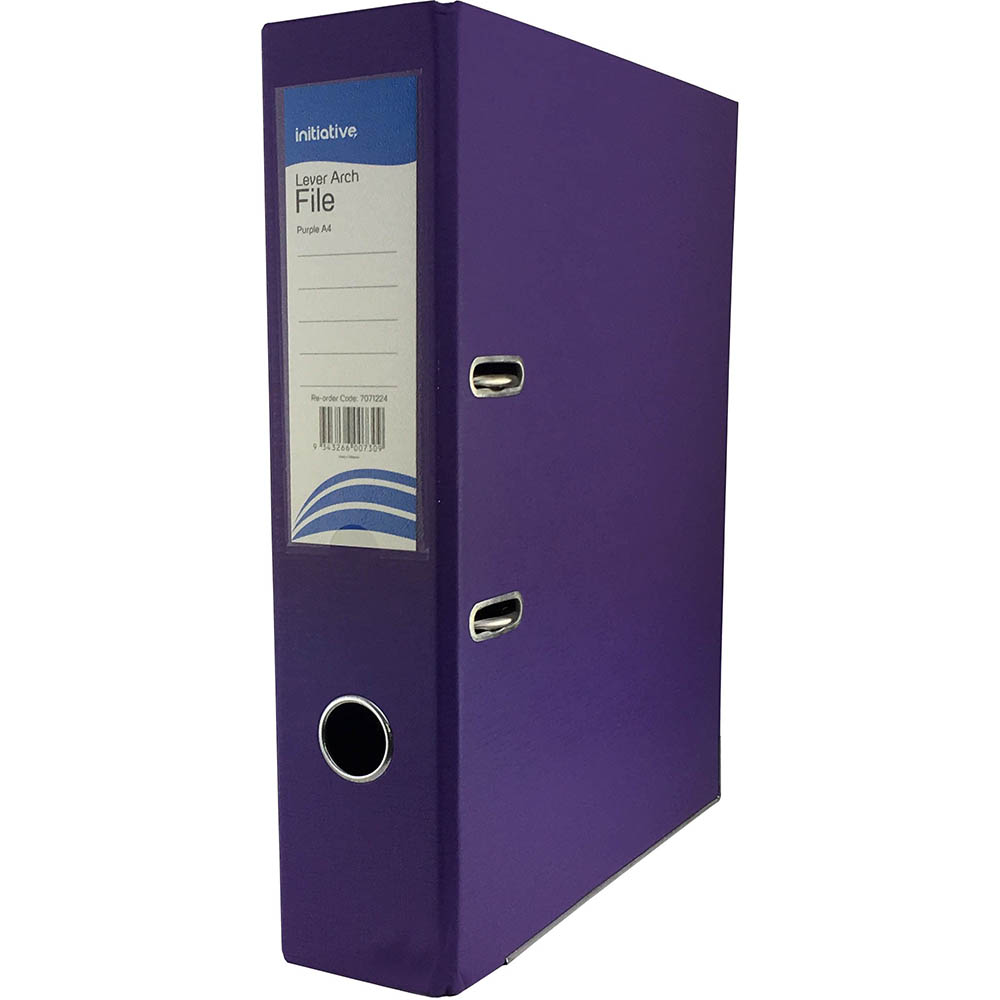 Image for INITIATIVE LEVER ARCH FILE PP 70MM A4 PURPLE from City Stationery Office National