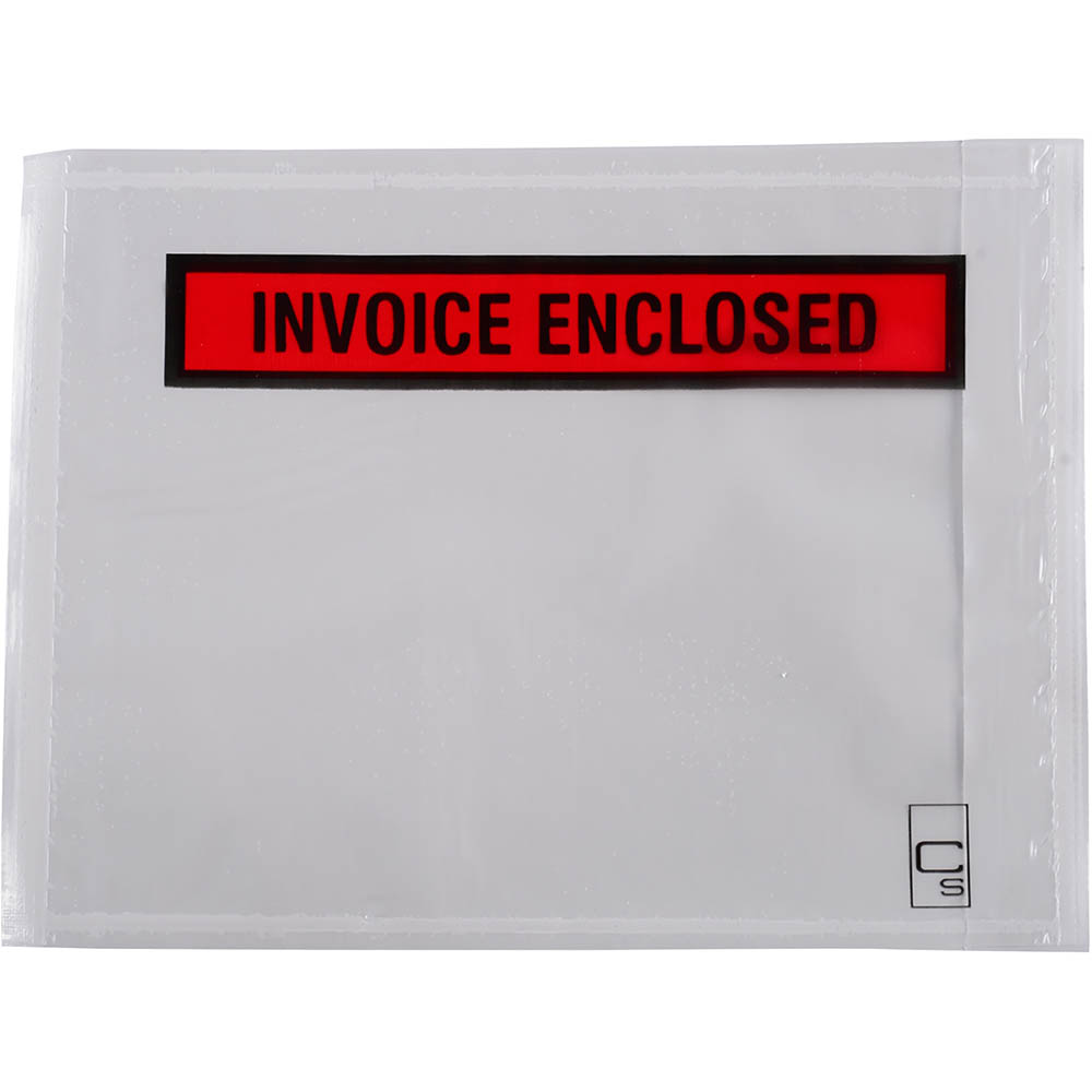 Image for CUMBERLAND PACKAGING ENVELOPE INVOICE ENCLOSED 155 X 115MM WHITE BOX 1000 from Office National Kalgoorlie