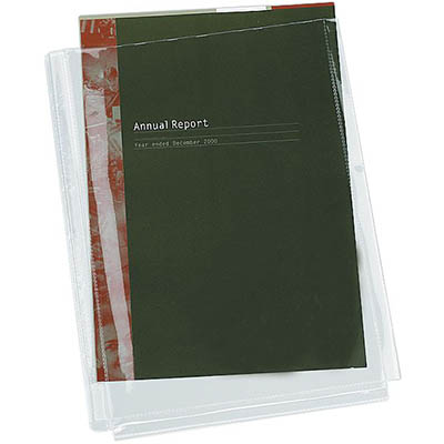 Image for CUMBERLAND SHEET PROTECTORS DOUBLE CAPACITY WITH GUSSET A4 CLEAR PACK 10 from Mackay Business Machines (MBM)