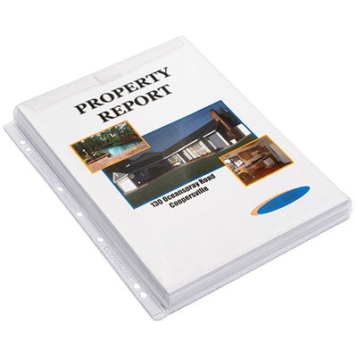 Image for CUMBERLAND SHEET PROTECTORS DOUBLE CAPACITY WITH GUSSET AND FLAP A4 CLEAR PACK 10 from Mackay Business Machines (MBM)