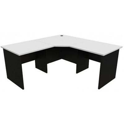 Image for OXLEY CORNER WORKSTATION 1800 X 1800 X 750 X 730MM WHITE/IRONSTONE from Wetherill Park / Smithfield Office National