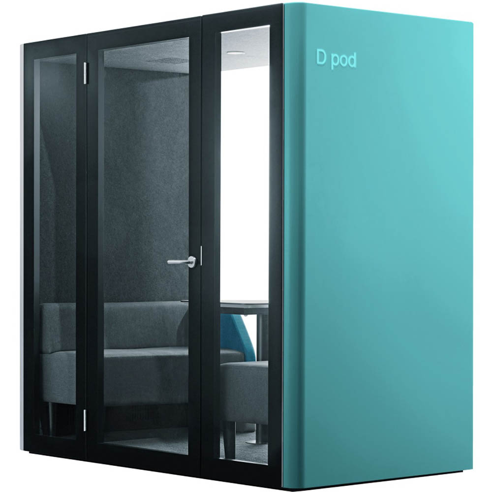 Image for D POD 2/4 PERSON OFFICE POD TURQUOISE from Chris Humphrey Office National