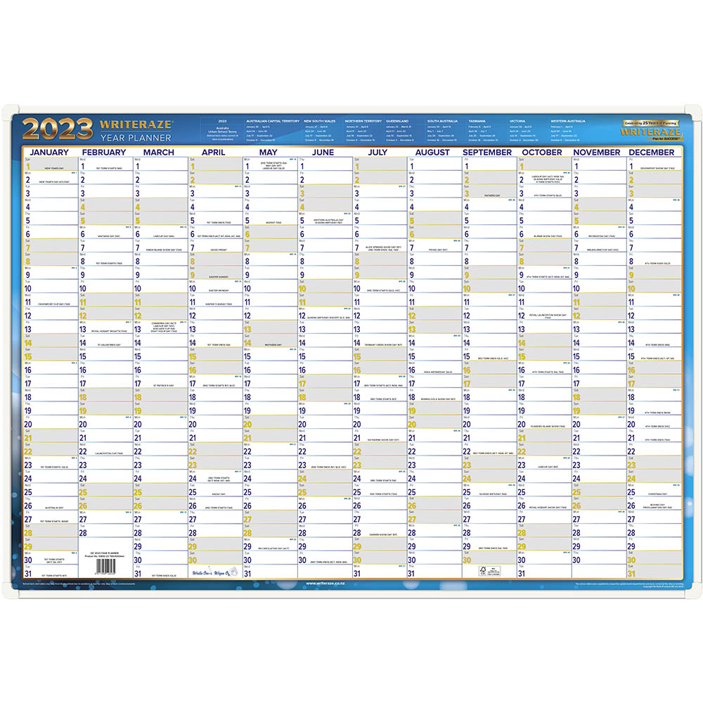 Image for WRITERAZE QC2 2021 EXECUTIVE YEAR PLANNER FRAMED 700 X 1000MM from Axsel Office National
