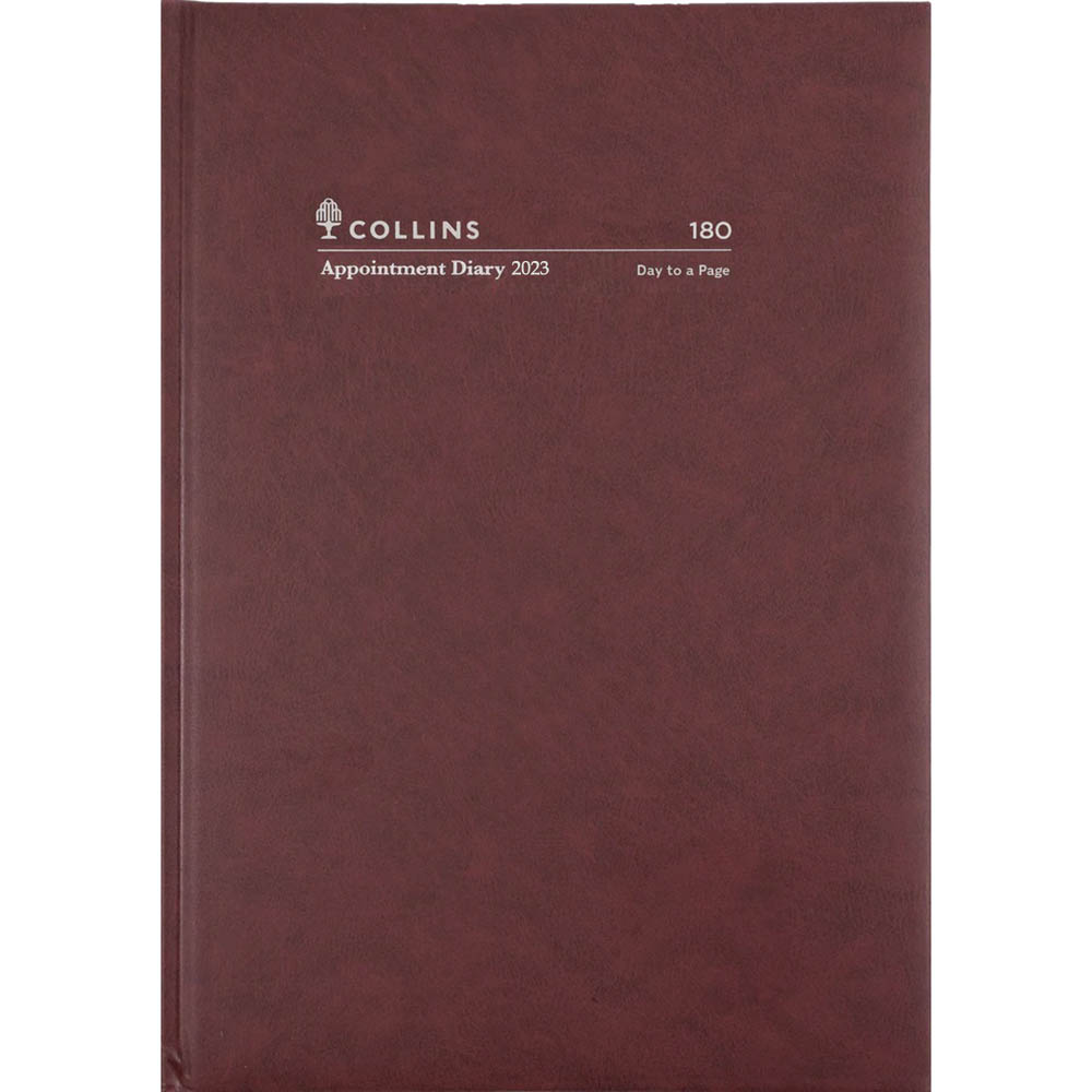 Image for COLLINS 2021 APPOINTMENT DIARY DAY TO PAGE 30 MINUTE A5 BURGUNDY from Axsel Office National